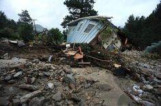 A house lays completely demolished in what was the path of the recent floods that have destroyed the town of Jamestown, CO on September (Photo By Helen H. Richardson/ The Denver Post) Trauma Therapy, Denver Post, Estes Park, Natural Phenomena, Bouldering, Screen Shot, Missouri, Abandoned, Colorado
