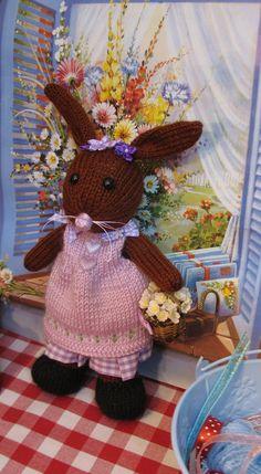 Lilly Bunnykin    Handknitted bunny rabbit by dollsandbunnies, $39.00