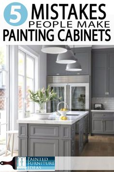 Learn how to paint your kitchen cabinets correctly. Avoid these major mistakes w… Learn how to paint your kitchen cabinets correctly. Avoid these major mistakes while remodeling your kitchen and bath! Diy Kitchen Cabinets, Built In Cabinets, Painting Kitchen Cabinets, Kitchen Paint, Kitchen Redo, New Kitchen, Kitchen Remodel, Kitchen Furniture, Kitchen Ideas
