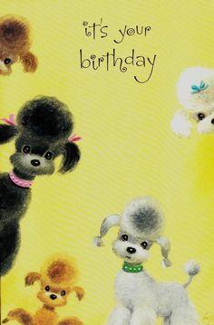 Vintage Poodle Card posted by Redlandspoodles.com