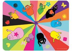 Placemat Barbapapa: I love the great colors and the Barbapapa images