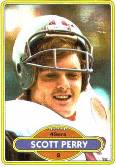 1980 Topps Scott Perry San Francisco 49ers