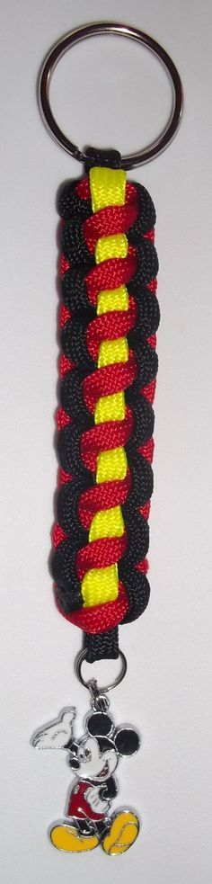 Hand Crafted Mickey Mouse Paracord Key Chain