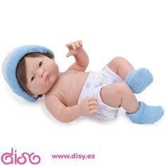 #muñecasberenguer #berenguerdolls #muñecasbebesdisy Muñecas Berenguer - Mini La Newborn de 24 cm azul - 18407A  www.disy.es
