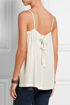 Madewell | Pleated washed-silk camisole | NET-A-PORTER.COM