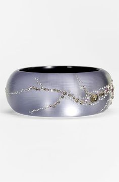 Alexis Bittar 'Dark Gardens - Lavender Dust' Large Hinged Bracelet available at Nordstrom