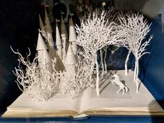 Adorable fairytale castle and forest sculpture by Su Blackwell in stories from the Enchanted Forest at Anthropologie, for sale at £5,500