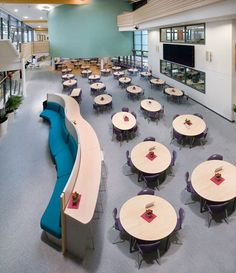 Case study on the Joseph Rowntree School, York rebuilt as a one off pathfinder school using funding from the building schools for the future BSF programme with furniture supplied by British Thornton. Case Study, Dining Area, Joseph, Education, School, Building, Buildings, Schools, Teaching