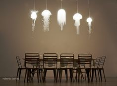jelly fish lamps.