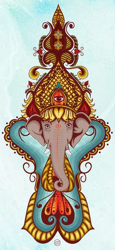 triangularvision:    Lord Ganesha by ~Mamba26