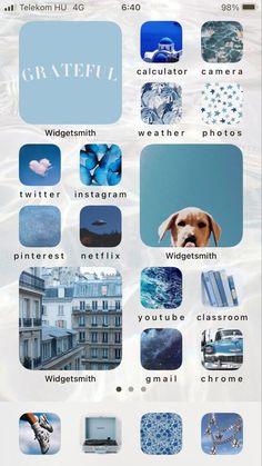 30 BLUE THEMED HOME SCREEN IDEAS!