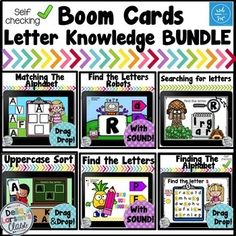 Boom Cards Letter Knowledge Bundle - Everything About Kindergarten Teaching Reading, Learning, Teaching Ideas, Google Classroom, Classroom Hacks, Autism Classroom, Classroom Organization, Letter Find, Letter Identification