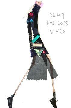"""""""Pleats and jewels."""" — DKNY [Courtesy Photo]"""