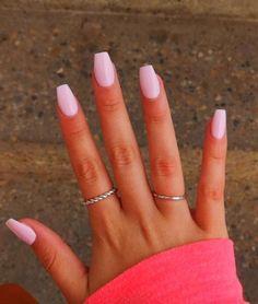 How to choose your fake nails? - My Nails Light Pink Acrylic Nails, Pink Gel Nails, Acrylic Nails Coffin Short, Simple Acrylic Nails, Square Acrylic Nails, Summer Acrylic Nails, Best Acrylic Nails, Coffin Nails, Pink Acrylics