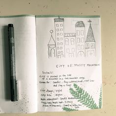 Journal Prompt: Draw a sketch of an imaginary city & name it