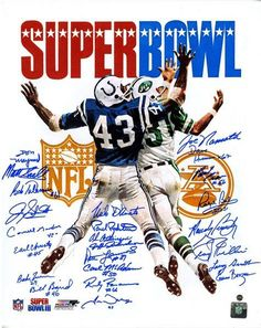 1969 New York Jets Team Signed Super Bowl III Program 16x20 Photo (24 Signatures)