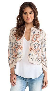 Alice + Olivia Eliette Embellished Jacket in Stone Multi | REVOLVE