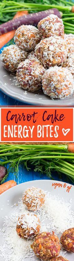 Carrot Cake Energy Balls - Gesund, lecker, vegan, zuckerfrei und perfekt als Snack für Zwischendurch! Fertig in nur 10 Minuten! <3 | veganheaven.de