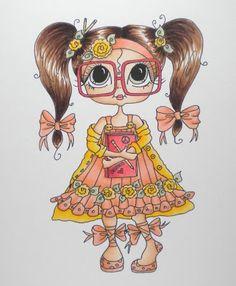 Besties close-up by Celine Besties, Adult Coloring Pages, Coloring Books, Art Magique, Doodle Characters, Art Mignon, Copic Art, Digi Stamps, Copics