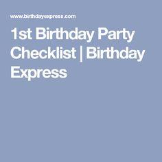 1st Birthday Party Checklist | Birthday Express