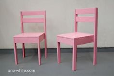 Make your own kid-sized stackable chairs for cheap (plus time). Wonder how they could be adapted for added support - arms, footrests, leg separators?