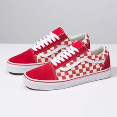 475ce75f86 Primary Check Old Skool Red Vans Shoes