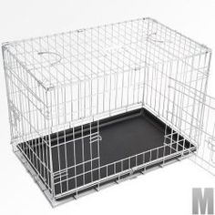 Collapsible Dog Cage Large Sturby Metal Folding Pet Travel Training 2 Doors for sale online Dog Cages, Pet Travel, Metal, Dogs, Place, Products, Transportation, Puertas, Walk In