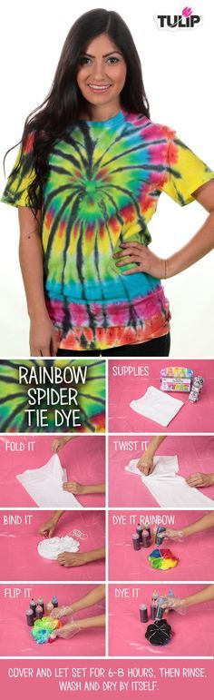 The Official Store for Tulip Tie-dye Products. Learn how to tie dye with our easy instructions and various techniques. Create all your favorite tie-dye designs with 1 kit. How To Tie Dye, How To Dye Fabric, Shibori, Tie Dye Party, Diy Tie Dye Shirts, Tie Dye Crafts, Diy Crafts, Tie Dye Techniques, Tie Dye Designs