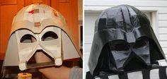 Accesorios caseros para tus disfraces de Carnaval: casco de Darth Vader #StarWars #Carnaval #DIY