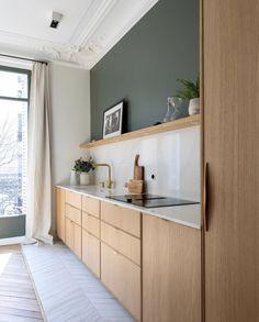 Kitchen Room Design, Kitchen Sets, Open Plan Kitchen, Modern Kitchen Design, Home Decor Kitchen, Interior Design Kitchen, Kitchen Furniture, New Kitchen, Home Kitchens