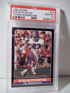 1990 Score Steve Atwater Rookie PSA Gem Mint 10 Football Card #16 NFL Football   #DenverBroncos