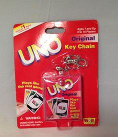 2000 Mattel Original Uno Key Chain  New