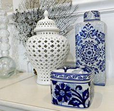 Blue & White Ceramics.