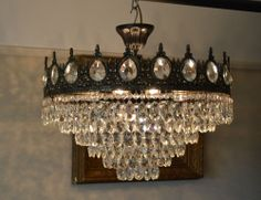 53 cm Width Antique French Style Low Ceiling Crystal Chandelier Nouveau Lighting