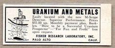 1955-Print-Ad-M-Scope-Uranium-Metals-Detector-Fisher-Research-Palo-Alto-CA