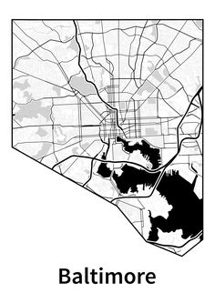 Since living in Baltimore, I've wanted some sort of map of the city to hang on my wall. Unfortunately, I never found anything I liked. Something I did like is Stamen Design's Toner maps. However, in its most easily available form, online map tiles, it is not well suited for high-resolution printing nor does it show the city limits. Fortunately, the style is open source. After cloning the repository, adding a rule to make an outline of Baltimore, rendering it to SVG, and clipping and editing....