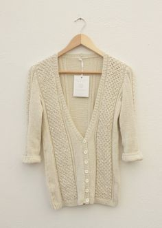 Vintage Cream hand knitted cardigan..... Made to Order! Visit http://graydawn.co.za/ to order yours this chilly Winter.