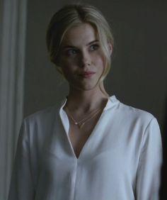 White blouse. Trish Walker in Jessica Jones TV series