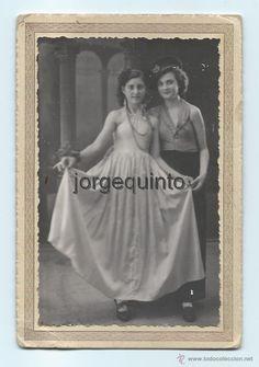 Fotografía antigua: RETRATO DOBLE DE ESTUDIO. FOTO-ORTEGA. PONCE DE LEÓN. MURCIA. 6 FEB. 1940. 10,3 X 15,2 CMS. - Foto 1 - 53948835