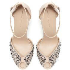 Zara Shiny Vamp Heels ($90) ❤ liked on Polyvore