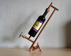 COPPER BOTTLE HOLDER 9, wine holder - wine display - wine furniture - wine expositor - wine equipment - wine accessories - wine presenter