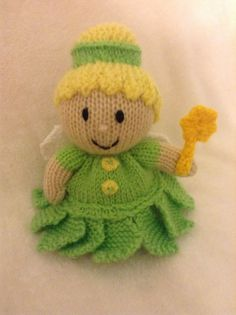 Garden Fairy chocolate orange cover or 15 cms toy in Tinkerbell knitting pattern ie.picclick.com
