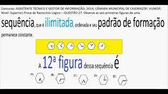 Curso Raciocínio Lógico Sequência de figuras números Teste Psicotécnico ... https://youtu.be/8sq8w8yW5SE