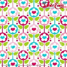 Tante Ema, Zuckerwatte rot/grün von Stitchaholic auf DaWanda.com