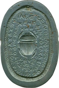 """ouroboruos:    """"Gnostic gem from Roman-era Egypt (1st century AD), with an ouroboros surrounding ascarabandvoces magicae, characters representing magic words"""""""