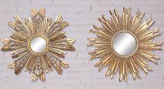 Sunburst Mirrors - Set of 2 - Wall Mirrors - Home Decor | HomeDecorators.com