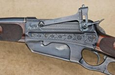 Winchester 1895 lever action, engraved