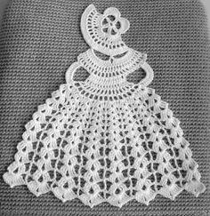 Crinoline Lady napperon en crochet dentelle par CrochetBySirik