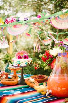 A colorful girl's birthday party or fiesta. We love how fun and lively these decorations look!