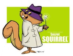 Secret Squirrel is a cartoon squirrel created by Hanna-Barbera. Secret Squirrel was one of two co-stars of The Atom Ant/Secret Squirrel Show. Old School Cartoons, Retro Cartoons, Old Cartoons, Classic Cartoons, Vintage Cartoon, Animated Cartoons, Looney Tunes Characters, Classic Cartoon Characters, Cartoon Tv Shows